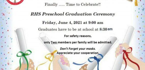 RHS Preschool Graduation Ceremony