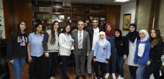 أحرز فريق الناشئات في كرة القدم المركز الثالث في البطولة المدرسية التي نظمتها مدرسة الجالية الاميركية ACS مبارك الفوز والى المزيد من النجاحات